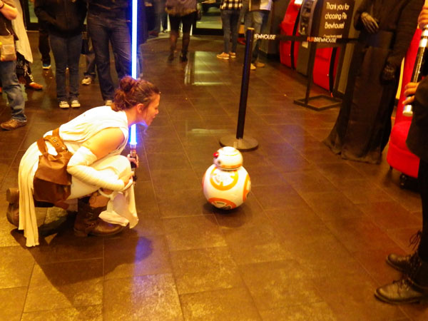 Ashley and BB8