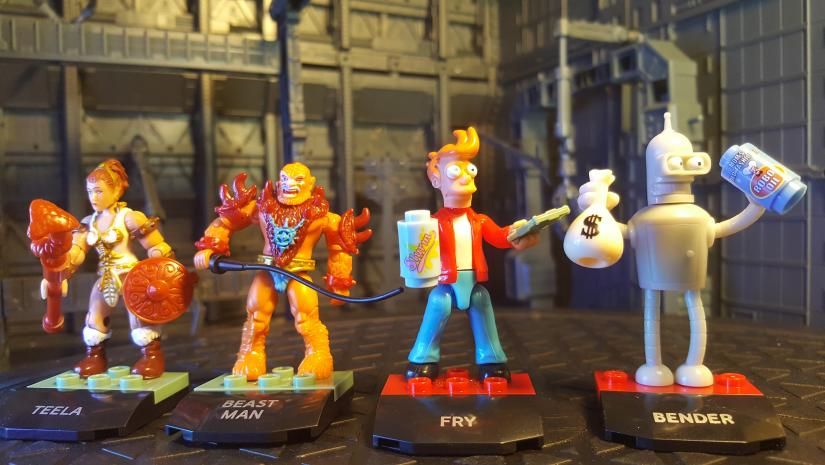 Weekly Haul: Mega Construx Heroes Series 2 - Teela, Beast Man, Fry, and Bender